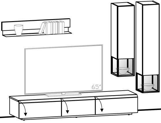 V-Cube Wohnwand Vorschlag 128
