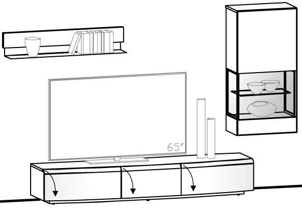 Wohnwand V-Cube Vorschlag 173