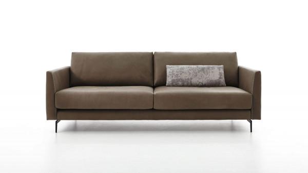 Sofa extra Large Omega in Leder C-Classic melange