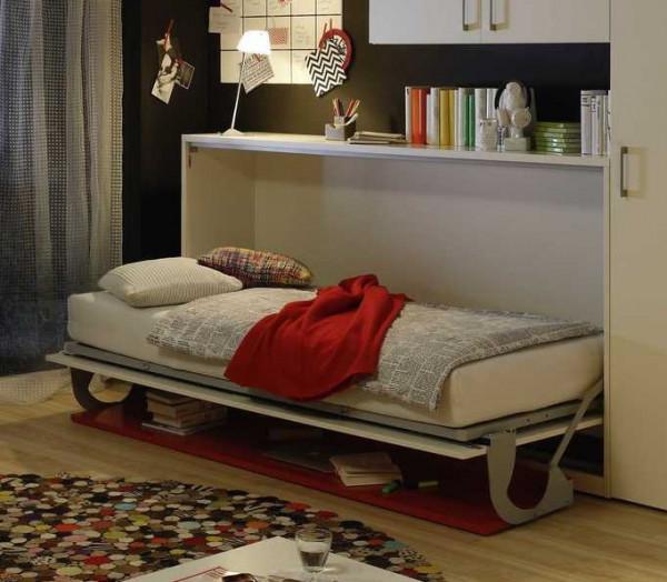Raumsparbett 2weiRaum-Wunder 4480 incl. Schreibtischplatte