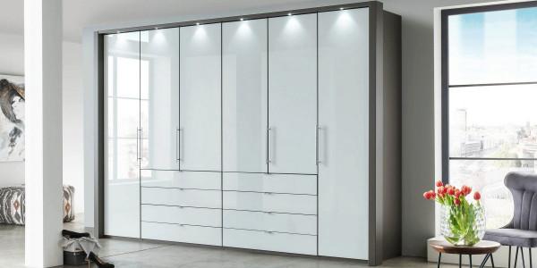 Planung | Wohnlandschaft HILLSBORO/HU-HP18064 in Leder Vivre-Farbton: Granit