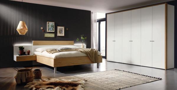 Schlafzimmer Citada A8436 in weiß, Absetzung Eiche
