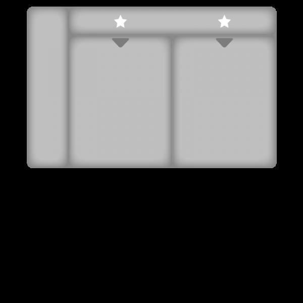 Planung | Sofa ATLANTIS-L/PN-IN16012 2,5 Sitzer