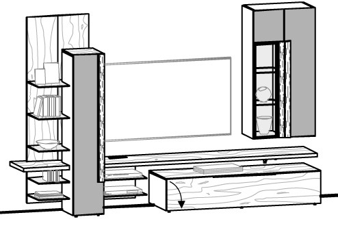 Wohnwand V-Alpin Vorschlag 302
