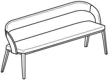 V-Cube Sitzbank Typ CB18 Bezug-Stoff: Loden
