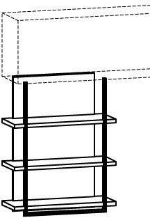 Unterbauregal V-Cube CR810U