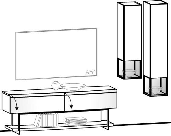 V-Cube Wohnwand Vorschlag 137