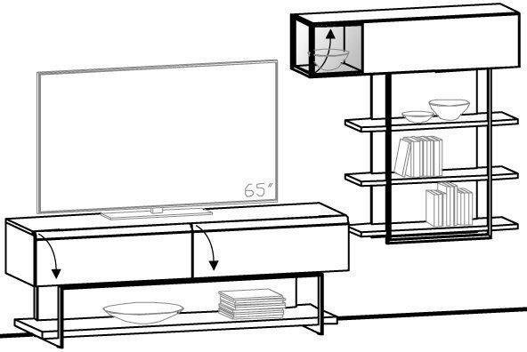 V-Cube Wohnwand Vorschlag 192
