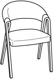 V-Cube Stuhl Typ SAGP37 Bezug-Stoff: Vintage