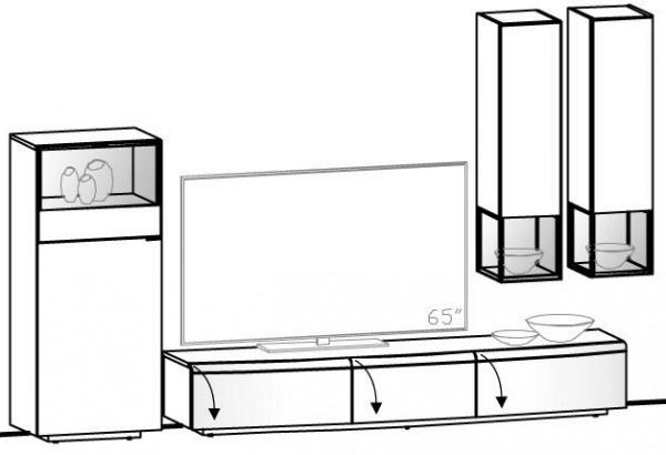 V-Cube Wohnwand Vorschlag 245