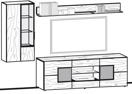 V-Alpin Wohnwand Vorschlag 168