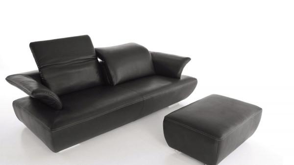 Sofa Avanti/Kally 2,5-sitzig, Leder C-Classic Pepper