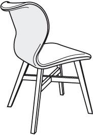 Stuhl V-Alpin SEGP64 in Bezug Leder