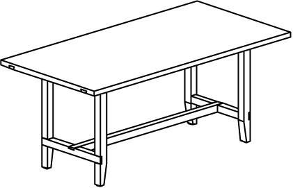 V-Cube Speisezimmertisch Typ CT918