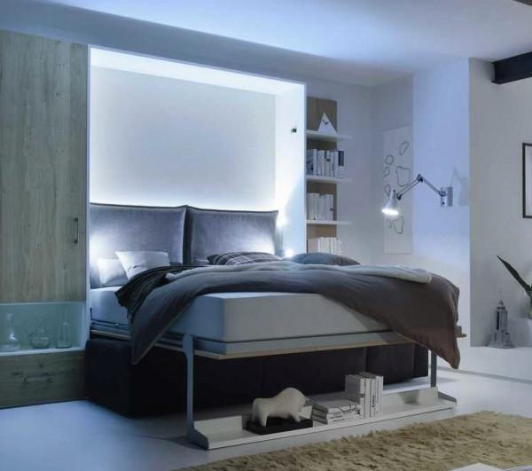 Raumsparbett 2wei-Raum-Wunder 2455 + Lounge Sofa 17260