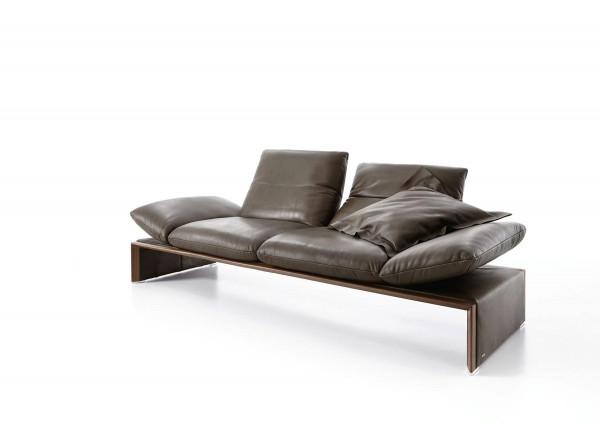 Sofa Harriet/Stowe 3-sitzig, Leder D-Gaucho havanna