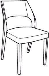 V-Cube Stuhl Typ SEHP55 Bezug-Stoff: Curl