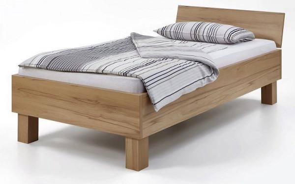 Einzelbett Design deLuxe + Kopfteil schräg